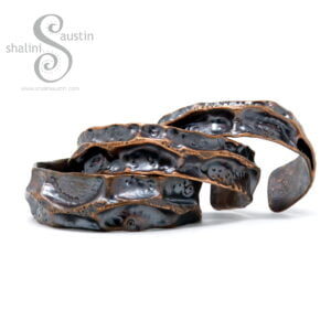 Copper Cuff Bracelet FANTASY | Various Sizes Made to Order