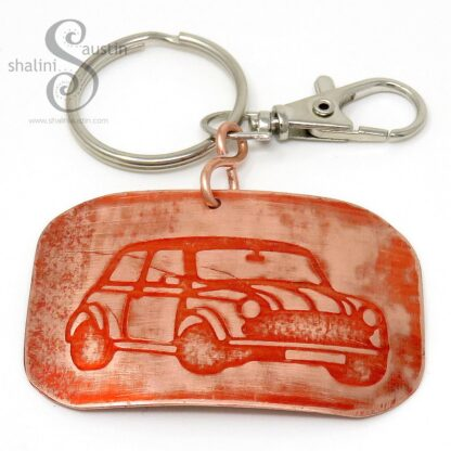 Copper Keyring MINI (02) | Orange