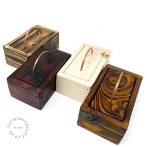 Palletwood Boxes with Copper Handles