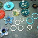 Colourful Enamelled Pendants