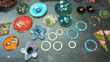 Colourful Enamelled Pendants