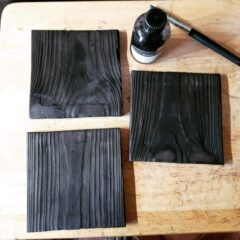 Upcycled Wood Mounts for Enamelled Tiles Part 2
