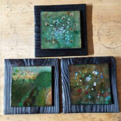 Upcycled Wood Mounts for Enamelled Tiles Part 3