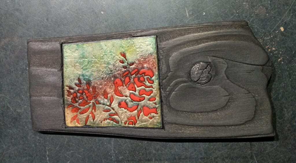 STILL BLOOMING | Enamelled Copper Wall Art