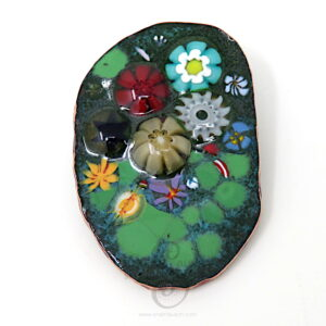 CORSAGE 05 | Colourful Enamelled Copper Brooch