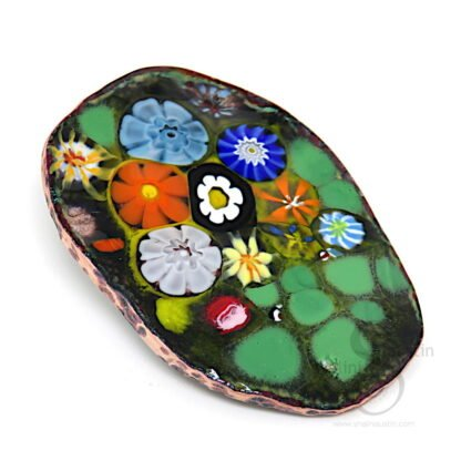 CORSAGE 07   Colourful Enamelled Copper Brooch