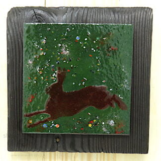SUMMER HARE 1 | One-Off Enamelled Copper Wall Art