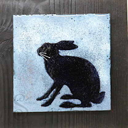 WINTER HARE 1 | One-Off Enamelled Copper Wall Art