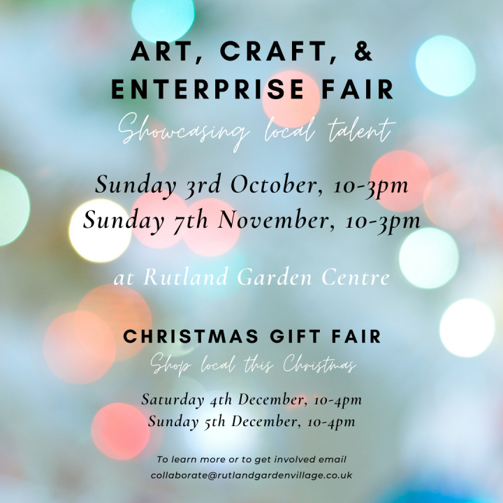 Art, Craft & Enterprise Fairs at Rutland Garden Village