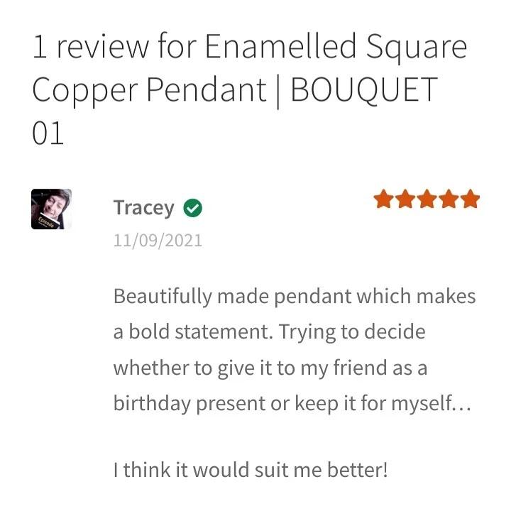 BOUQUET 01 Copper Pendant feedback
